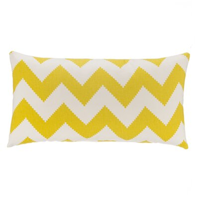 Chevron Velvet Lumbar Pillow Color: Citron Green