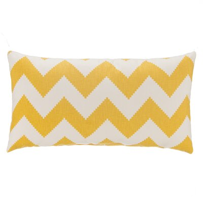 Chevron Velvet Lumbar Pillow