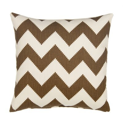 Chevron Velvet Throw Pillow Color: Chocolate Brown