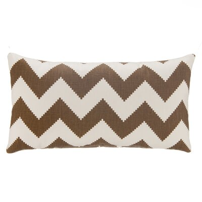 Chevron Velvet Lumbar Pillow Color: Chocolate Brown