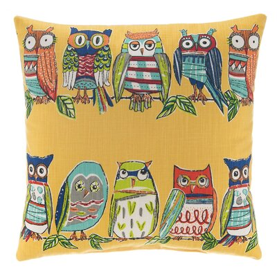 Hoot Throw Pillow Color: Yellow
