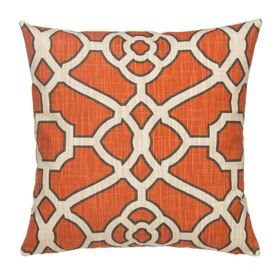 Fretwork Linen Throw Pillow