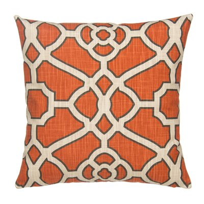 Fretwork Linen Throw Pillow Cover