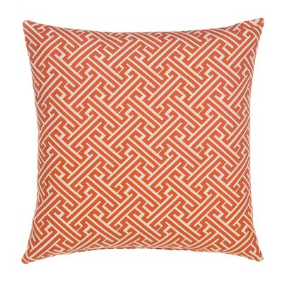 Greek Key Throw Pillow Color: Burnt Orange