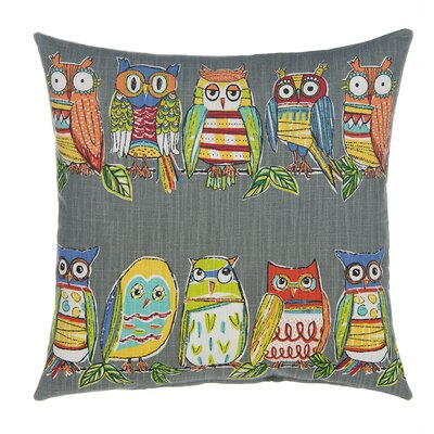 Hoot Pillow Cover Color: Gray