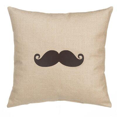 Mustache Linen Pillow Cover