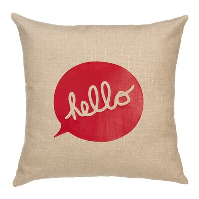 Hello Linen Pillow Cover