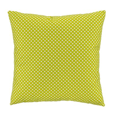 Green Micro Dot Square Pillow