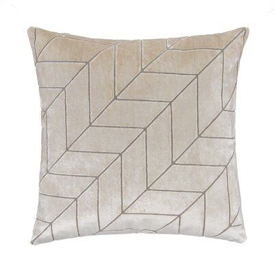 Cut Velvet Chevron Square Pillow