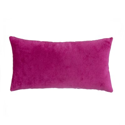 Magenta Velvet Lumbar Pillow