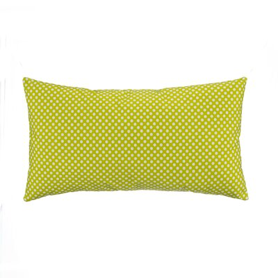 Green Micro Dot Lumbar Pillow