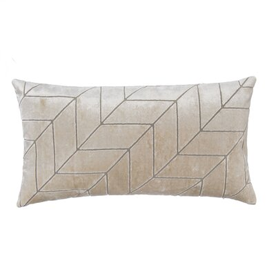 Cut Velvet Chevron Lumbar Pillow
