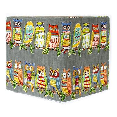 Decorative Cube Ottoman Upholstery: Gray Hoot