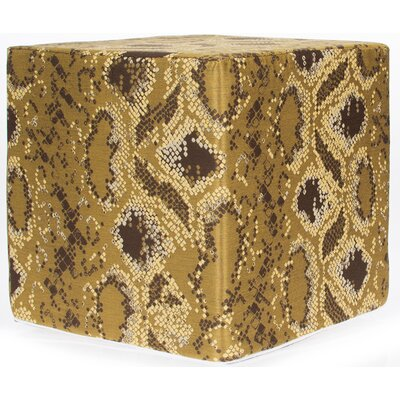 Decorative Cube Ottoman Upholstery: Gold