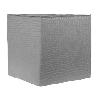 Decorative Cube Ottoman Upholstery: Gray