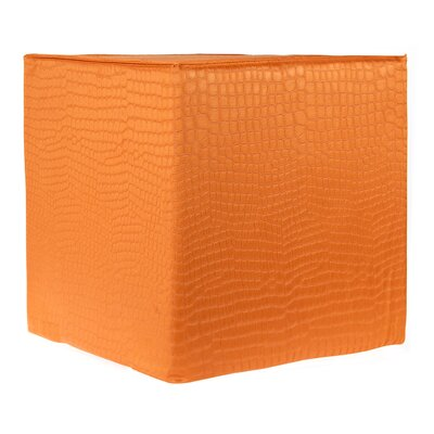 Decorative Ottoman Upholstery: Orange