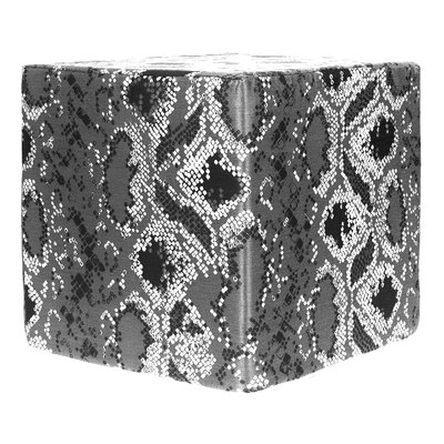 Decorative Cube Ottoman Upholstery: Pewter