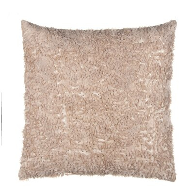 Chiffon Petal on Sequined Tulle Over Velvet Throw Pillow