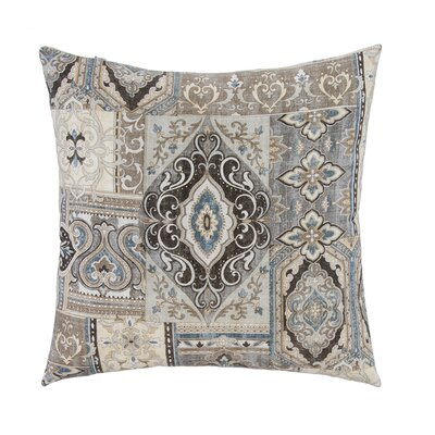 Spice Trade with Bone Velvet Back Throw Pillow