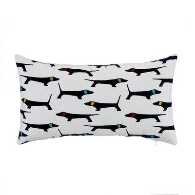Mongrel with Bone Velvet Lumbar Pillow