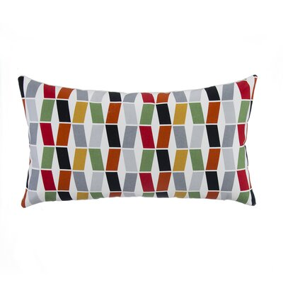 Flash Geometric with Bone Velvet Lumbar Pillow