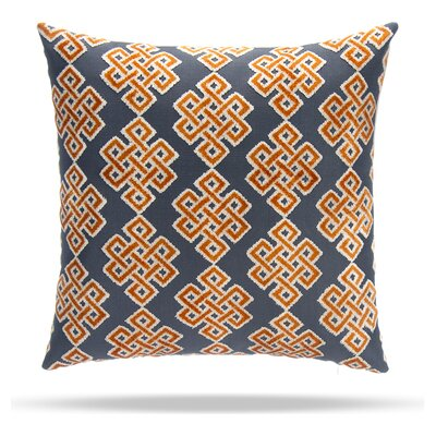 Infinity Square Cotton Throw Pillow Color: Orange / Blue