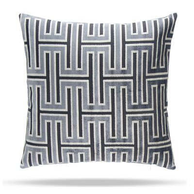 Wave Length Cotton Throw Pillow