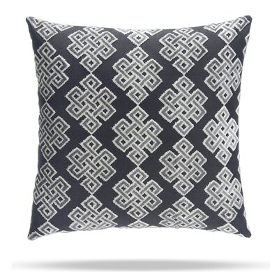 Infinity Square Cotton Throw Pillow Color: Gray / Black