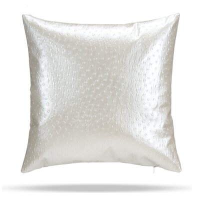 Oscar Faux Osterich Cotton Throw Pillow Color: White