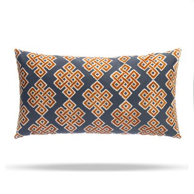Infinity Square Cotton Lumbar Pillow Color: Orange / Blue