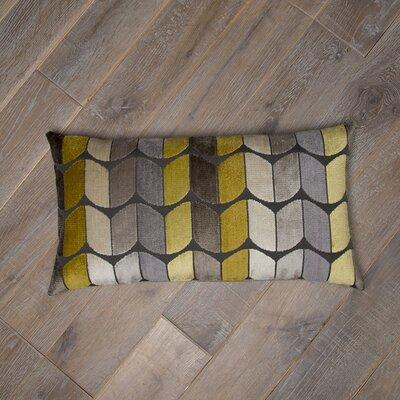 Domain Cotton Lumbar Pillow Color: Yellow / Gray
