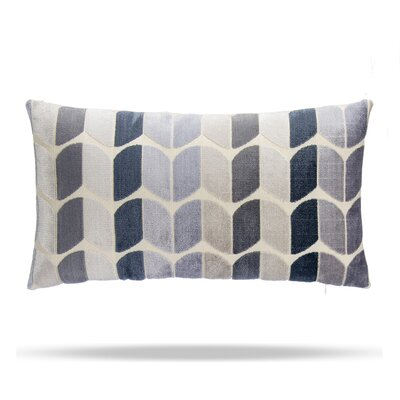 Domain Cotton Lumbar Pillow Color: Blue / Gray