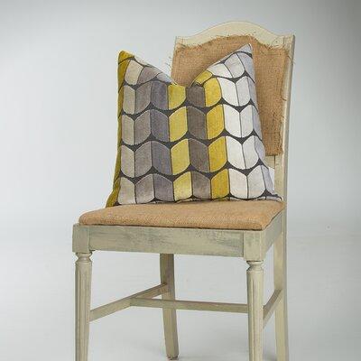 Domain Cotton Throw Pillow Color: Yellow / Gray