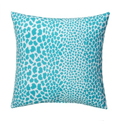 Dont Be Catty Outdoor Throw Pillow Color: Aqua