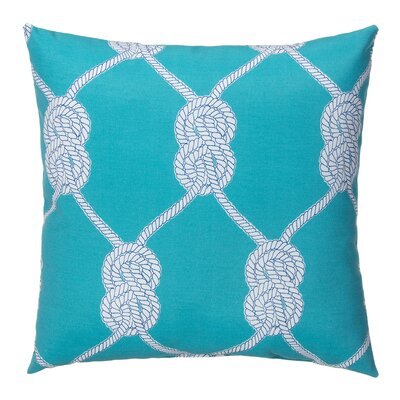 Lets Get Nauti Outdoor Throw Pillow Color: Aqua