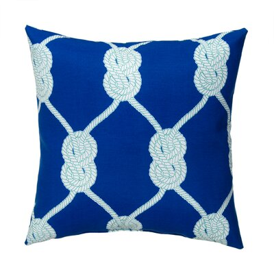 Lets Get Nauti Outdoor Throw Pillow Color: Zinc
