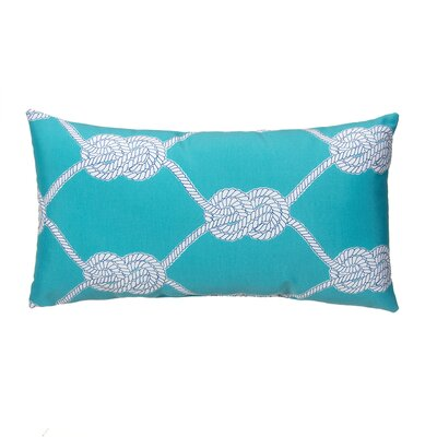 Lets Get Nauti Outdoor Lumbar Pillow Color: Aqua