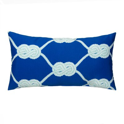Lets Get Nauti Outdoor Lumbar Pillow Color: Royal