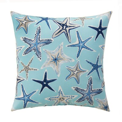 Starstruck Outdoor Throw Pillow Color: Blue