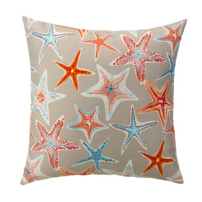 Starstruck Outdoor Throw Pillow Color: Cream/Orange