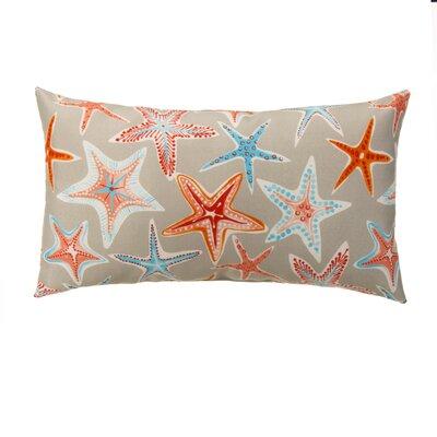 Starstruck Outdoor Lumbar Pillow Color: Cream/Orange