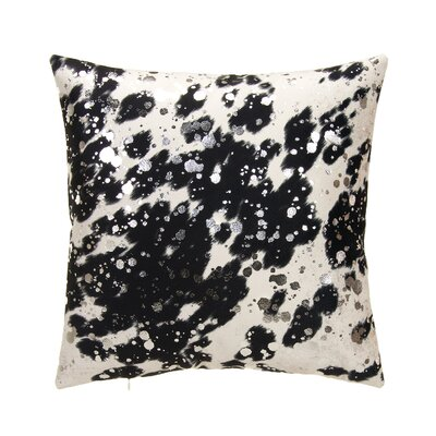 Rabiya Throw Pillow Color: Black