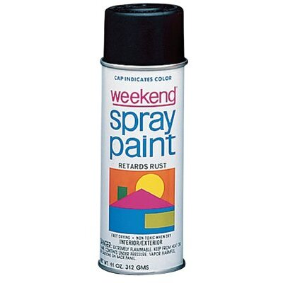 Krylon Weekend Economy Paints - 11-oz. gloss black weekend spray paint inter (Set of 6) at Sears.com