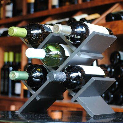 BYO Wine Rack 5 Bottle Tabletop Wine Rack Finish: Graphite