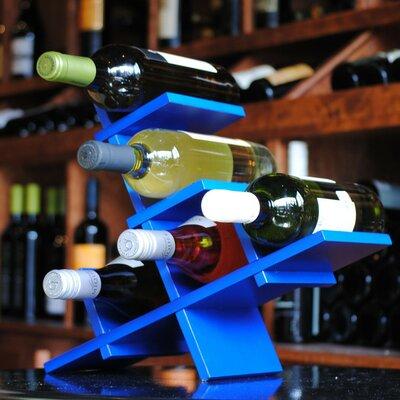 BYO Wine Rack 5 Bottle Tabletop Wine Rack Finish: Blue