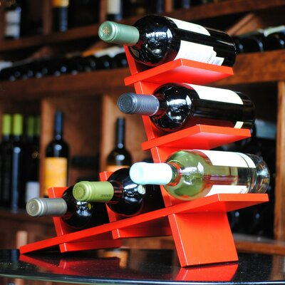 BYO Wine Rack 5 Bottle Tabletop Wine Rack Finish: Red