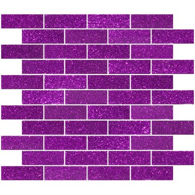 1 x 3 Glass Subway Tile in Purple Violet