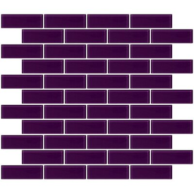 1 x 3 Glass Subway Tile in Lavender Purple