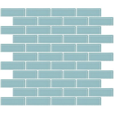 1 x 3 Glass Subway Tile in Blue