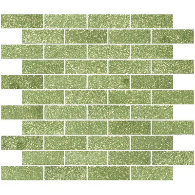 1 x 3 Glass Subway Tile in Glossy Light lime green